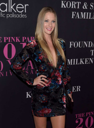A J Cook 10th Anniversary Pink Party Santa Monica