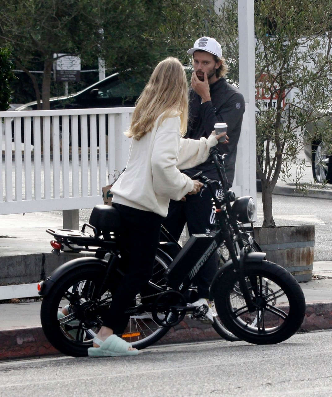 Abby Champion Patrick Schwarzenegger Out Cycling Los Angeles
