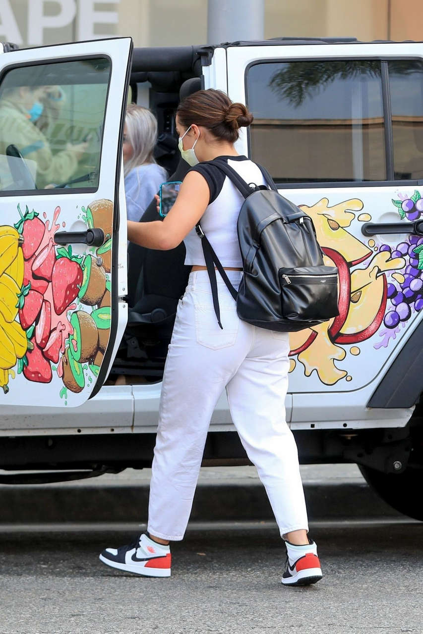 Addison Rae Leaves Dermatologist Office Beverly Hills