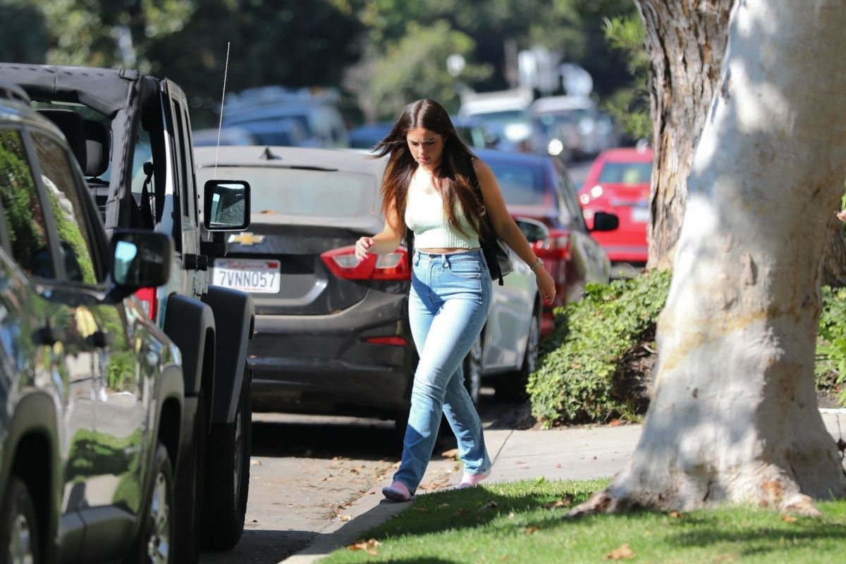 Addison Rae Leaves Friends House Los Angeles