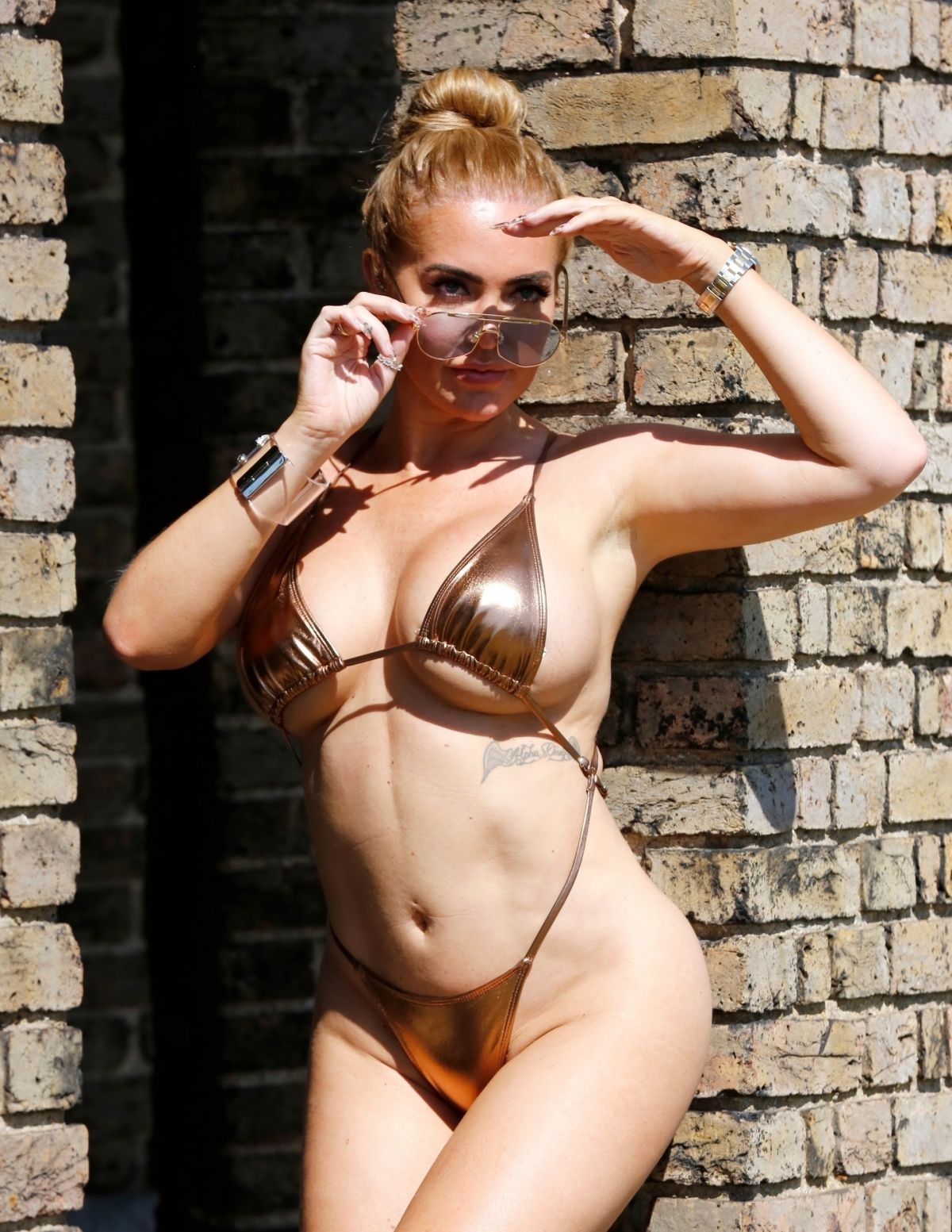 Aisleyne Horgan Wallace Golden Bikini London