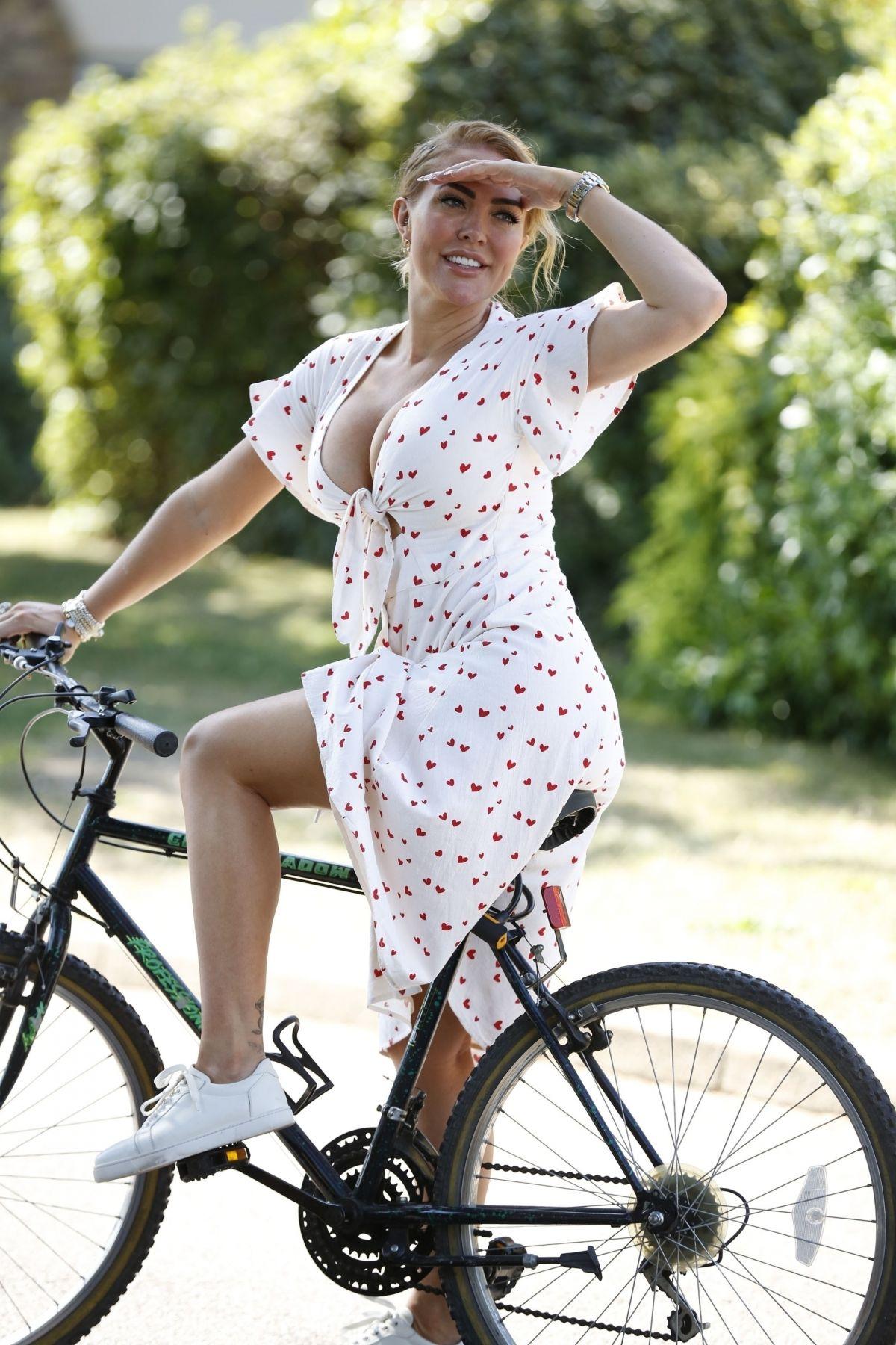 Aisleyne Horgan Wallace Out Riding Bike London