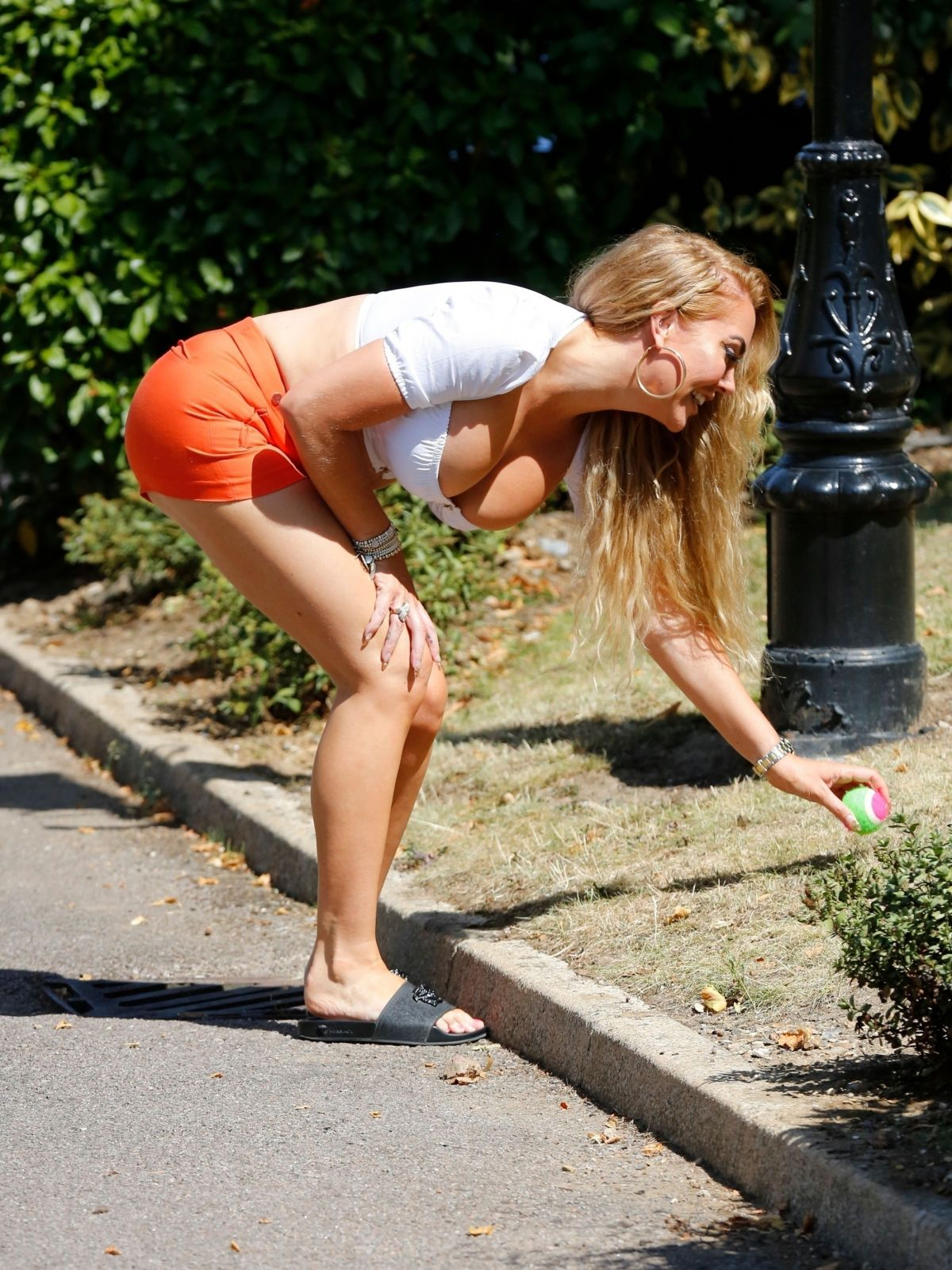 Aisleyne Horgan Wallace Out With Her Dog London