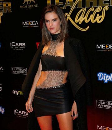Alessandra Ambrosio 13th Annual Leather Laces Mega Party Super Bowl 50 San Francisco
