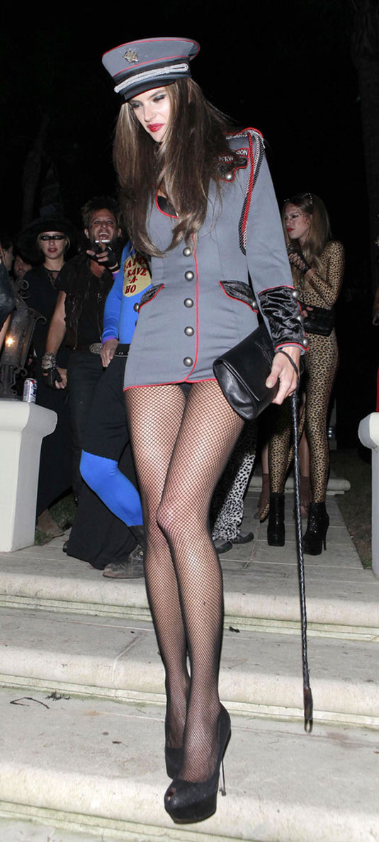 Alessandra Ambrosio Arriving Halloween Party Beverly Hills