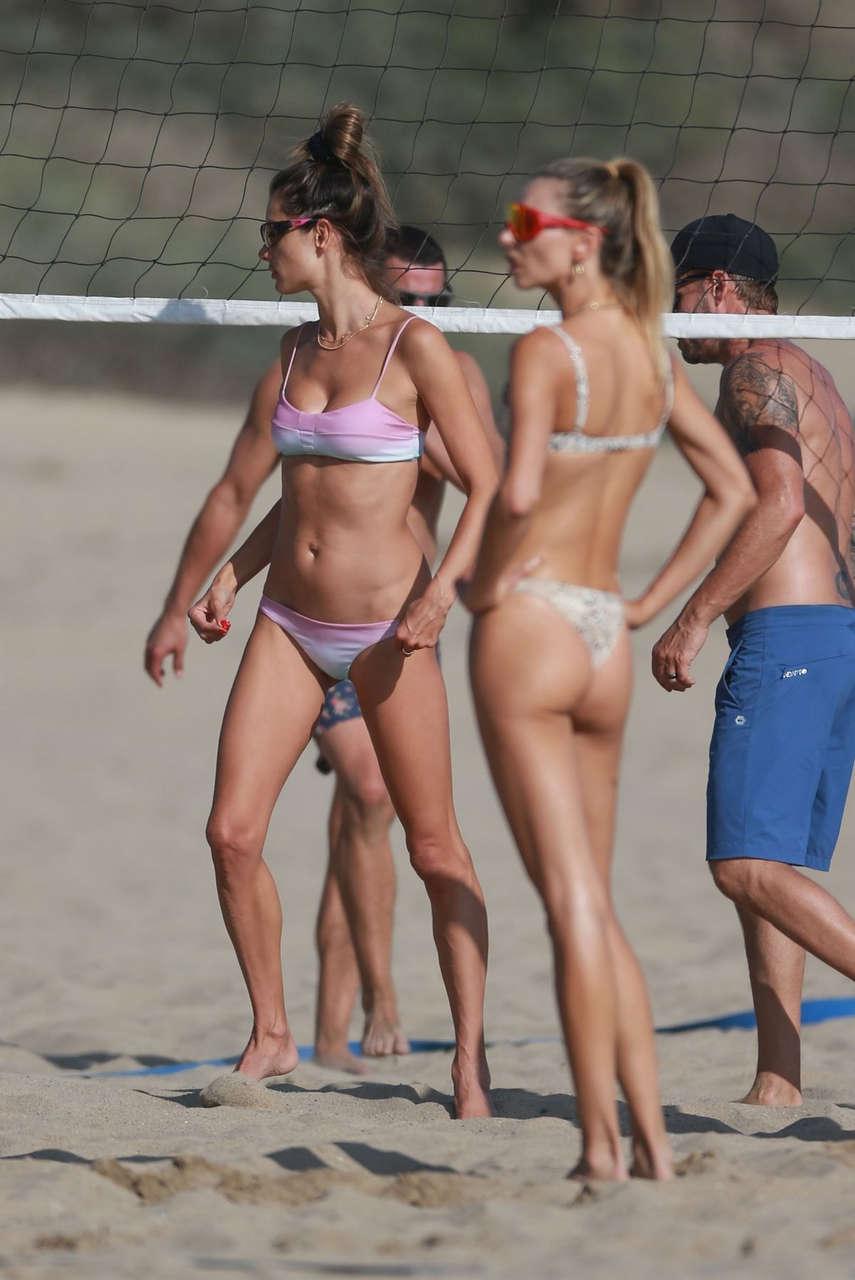 Alessandra Ambrosio Bikini Beach Santa Monica
