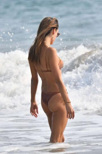 Alessandra Ambrosio Bikini Out Beach Santa Monica