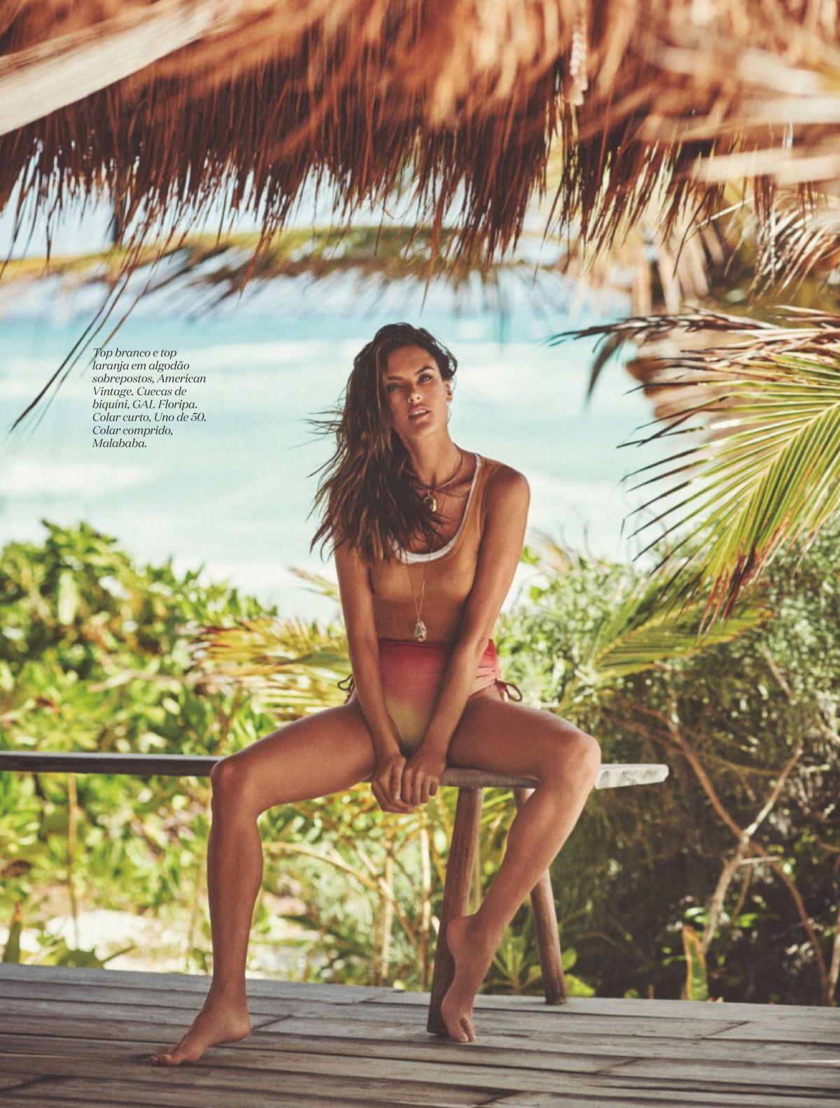 Alessandra Ambrosio Elle Magazine Portugal August