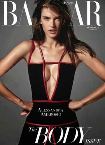 Alessandra Ambrosio Harpers Bazaar Magazine Australia October 2014 Issue