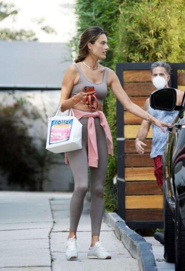 Alessandra Ambrosio Leaves Gym Los Angeles