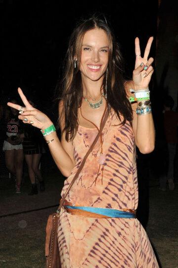 Alessandra Ambrosio Out About Coachella Festival