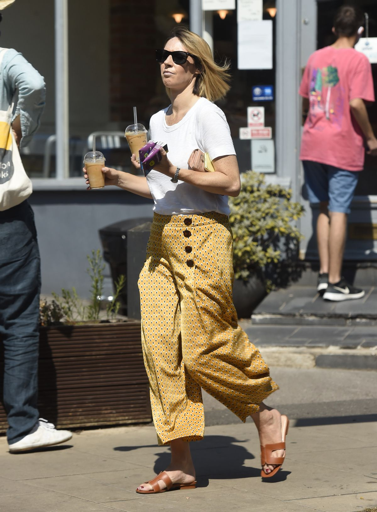 Alex Jones Out For Iced Coffees London