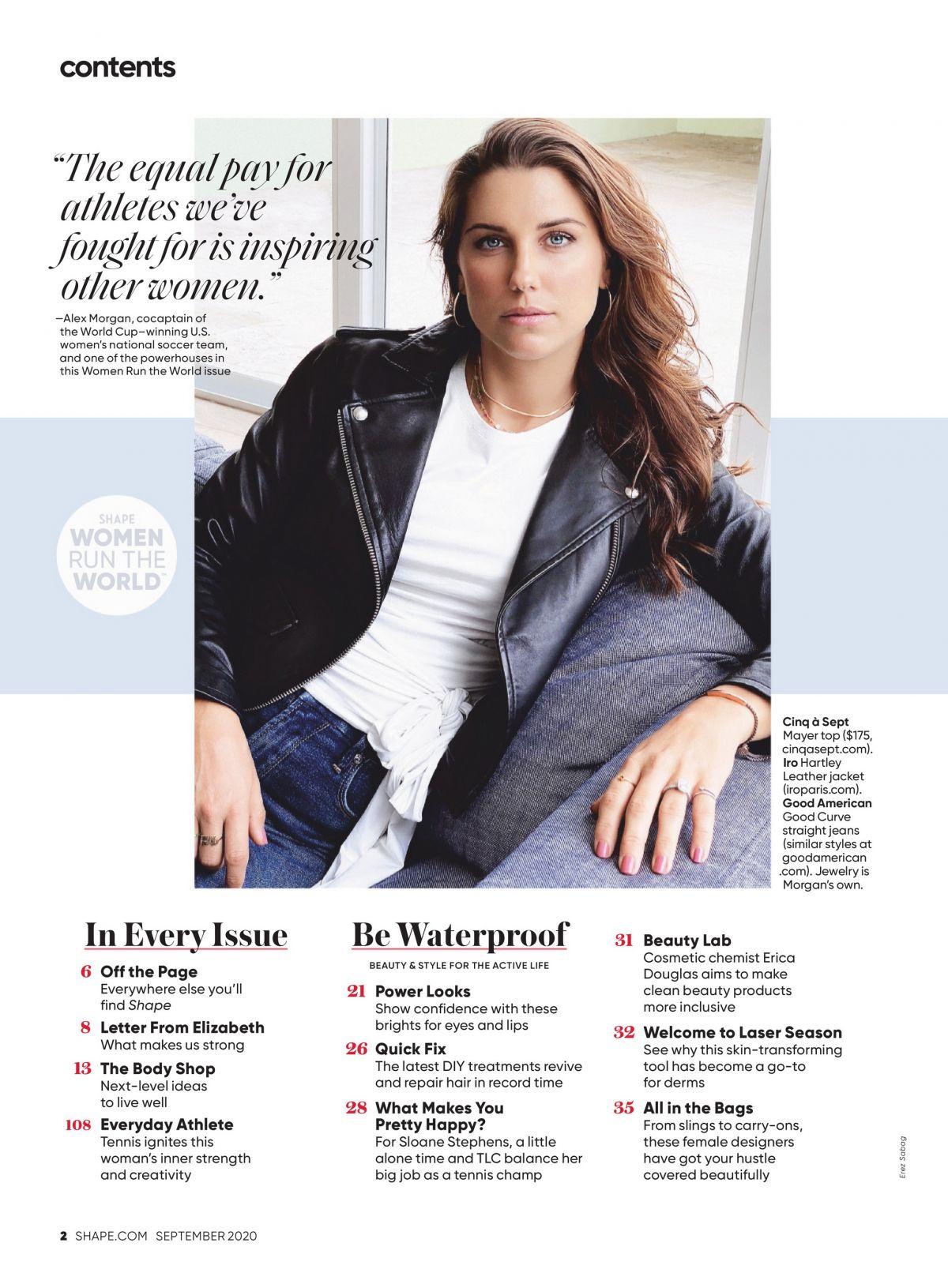 Alex Morgan Shape Magazine September