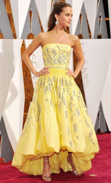 Alicia Vikander 88th Annual Academy Awards Hollywood