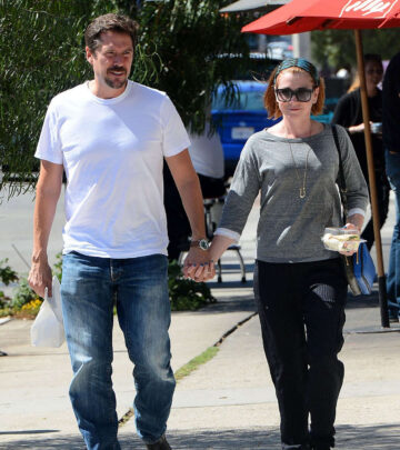 Alyson Hannigan Alexis Denisof Out For Lunch Toast Los Angeles