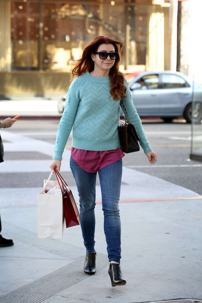 Alyson Hannigan Shopping Cartier Beverly Hills