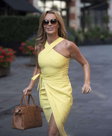 Amanda Holden Yellow Dress Global Radio London