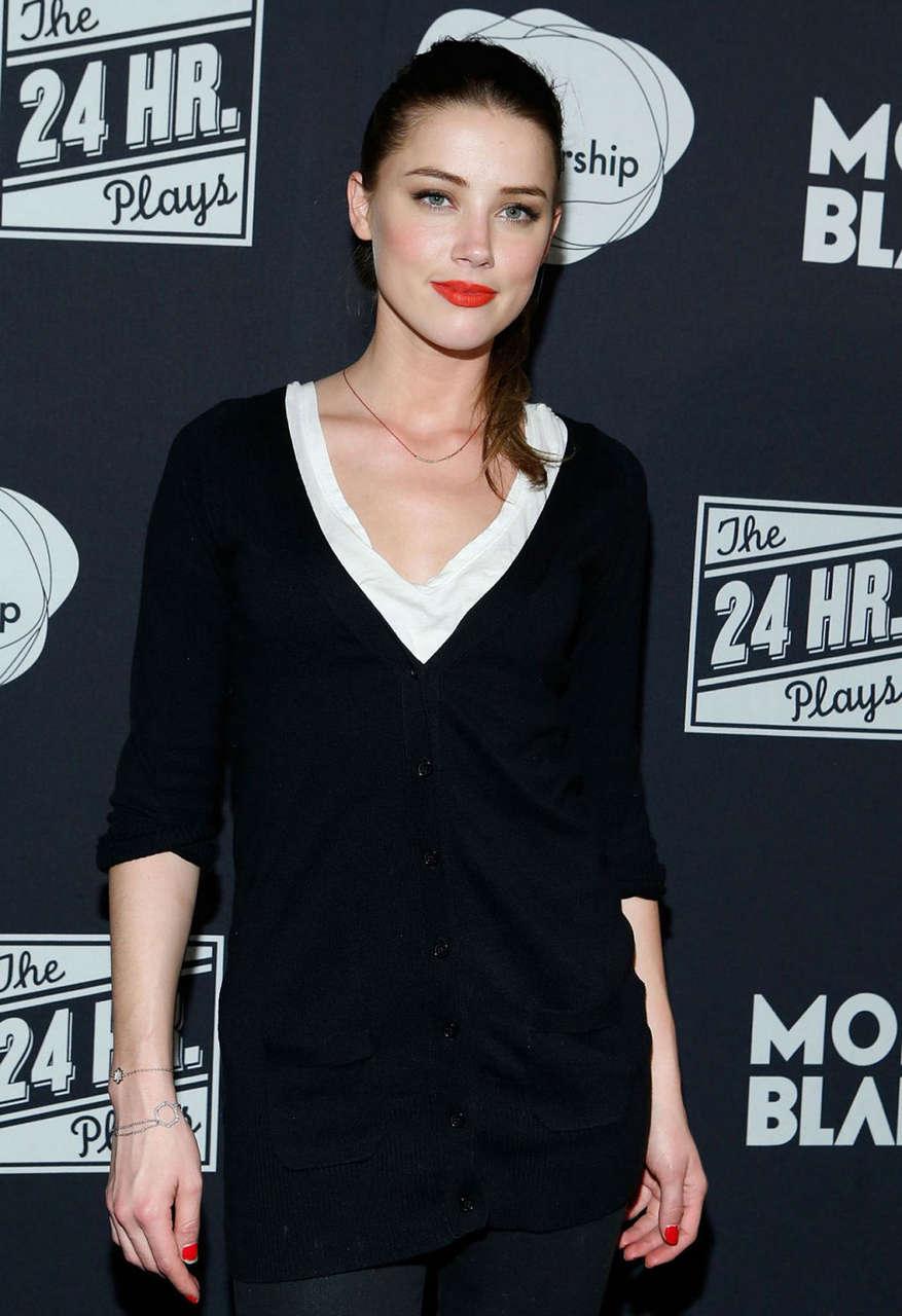 Amber Heard 24 Hour Plays Broadway Gala New York