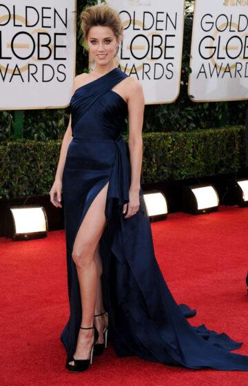 Amber Heard 71st Annual Golden Globe Awards