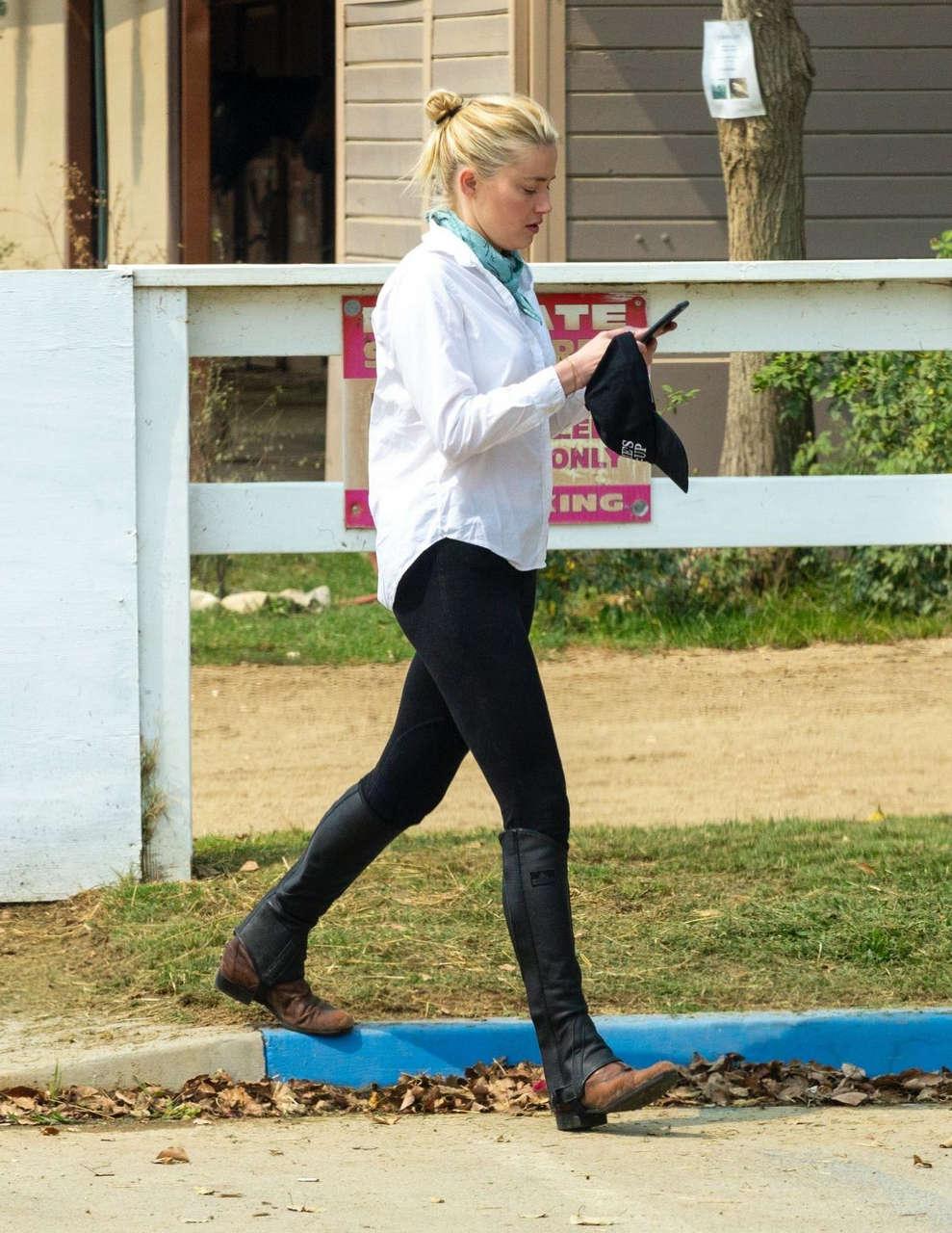 Amber Heard Horseback Riding Los Angeles