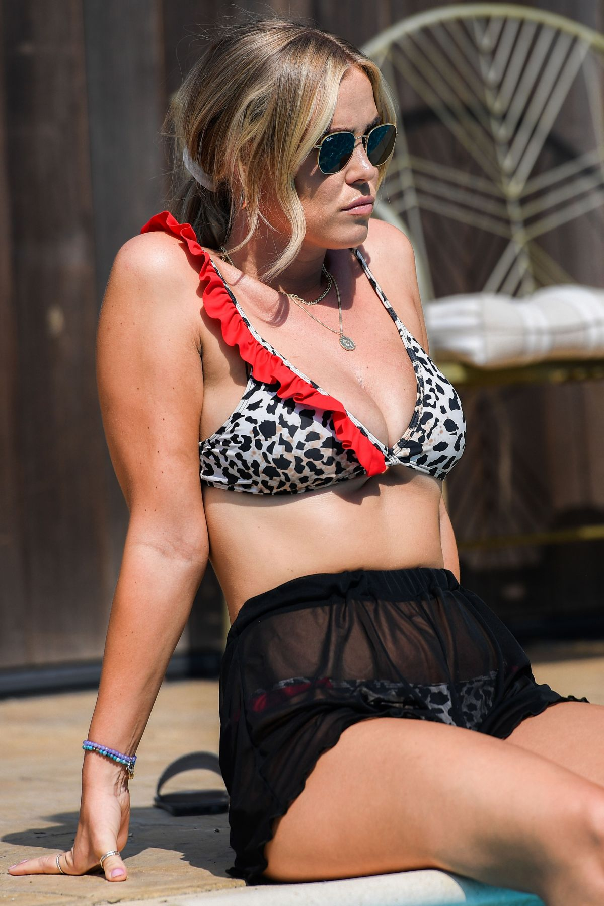 Amber Turner Yazmin Oukhellou Courtney Green Chloe Meadows Bikini Set Towie