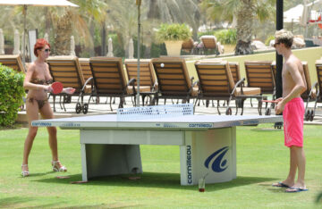 Amy Childs Bikini Candids Pool Dubai