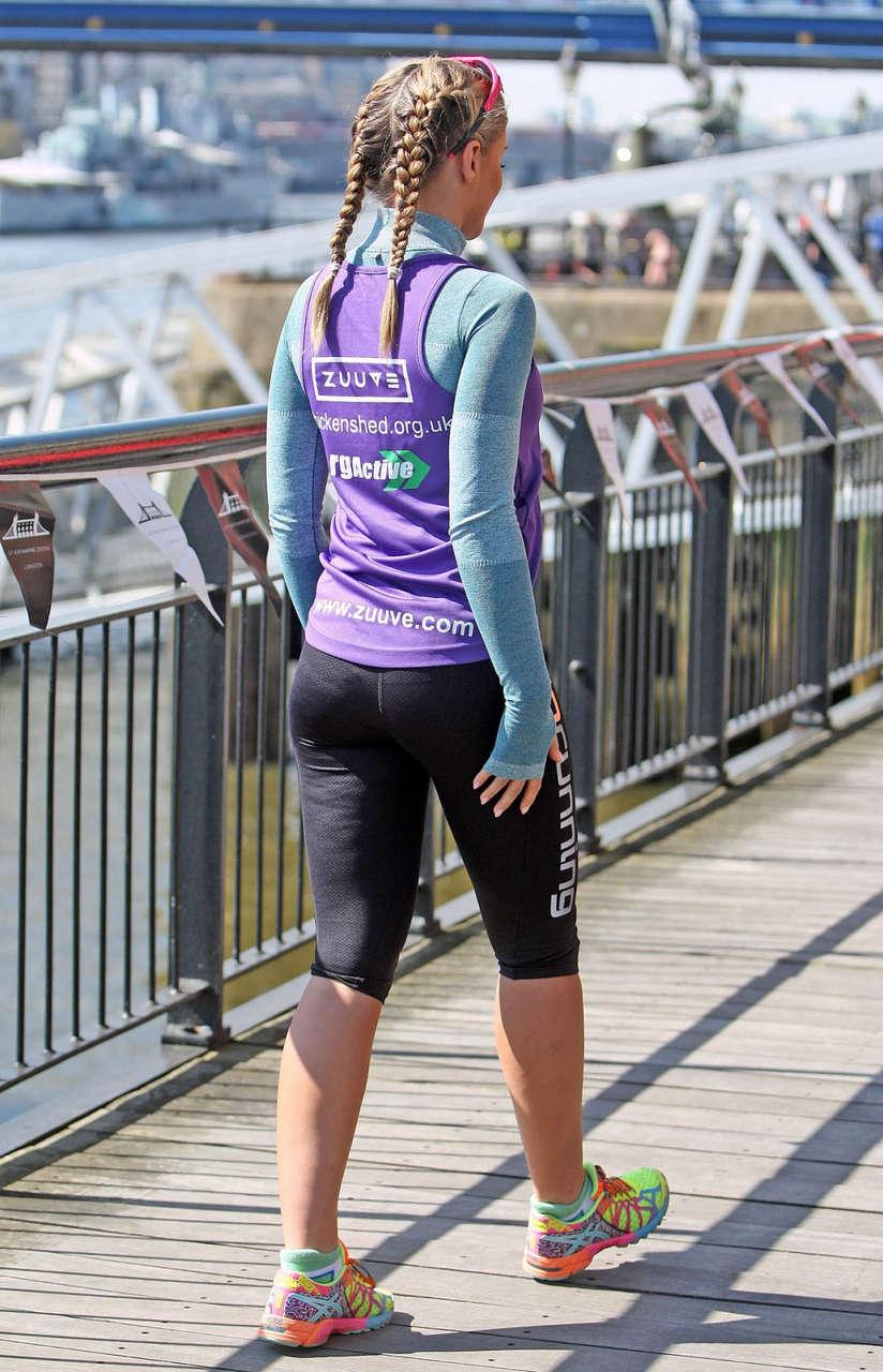 Amy Willerton London Marathon Photocall