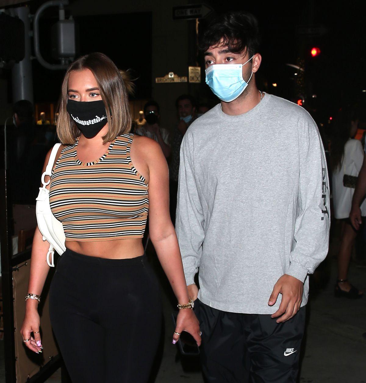 Anastasia Karanikolaou Abd Zack Bia Out For Dinner Il Pastaio Beverly Hills
