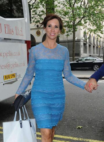 Andrea Mclean Arrives For Wedding Waldorf Hotel London