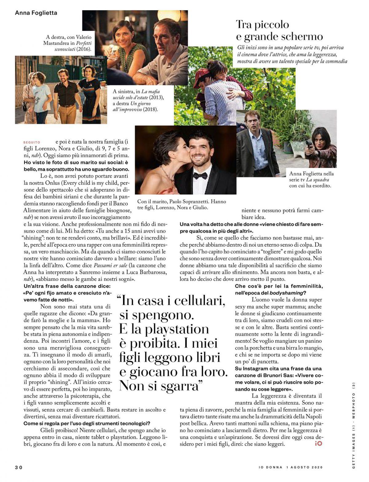 Anna Fogliette Io Donna Del Corriere Della Sera August