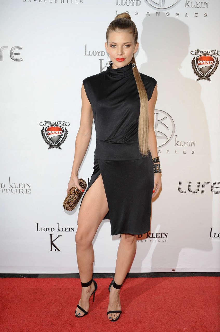Annalynne Mccord Lloyd Klein Spring Collection Preview Hollywood