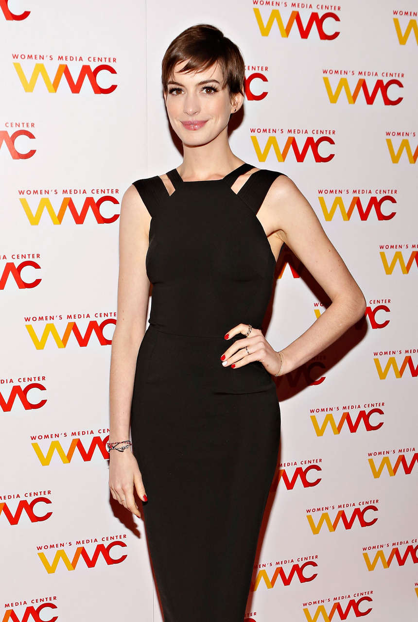 Anne Hathaway 2012 Womens Media Awards New York