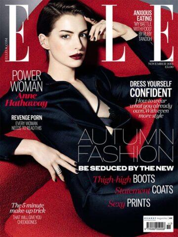 Anne Hathaway Elle Magazine November 2014 Issue