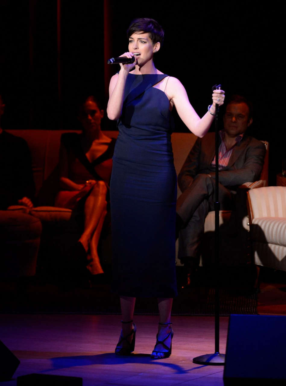 Anne Hathaway Great American Songbook Event New York