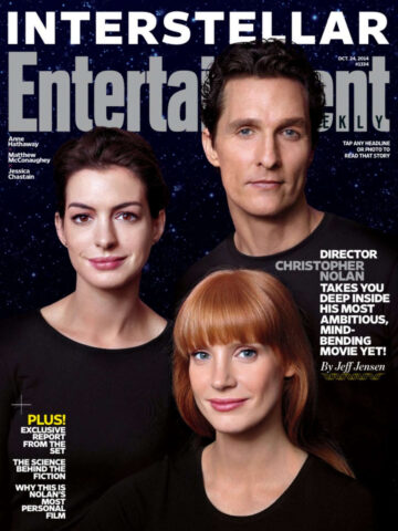 Anne Hathaway Jessica Chastain Entertainment Weekly Magazine October 2014 Issue