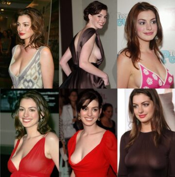 Anne Hathaway Sideboob And Seethrough Compilation