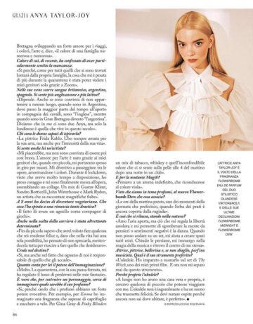 Anya Taylor Joy Grazia Magazine Italy September