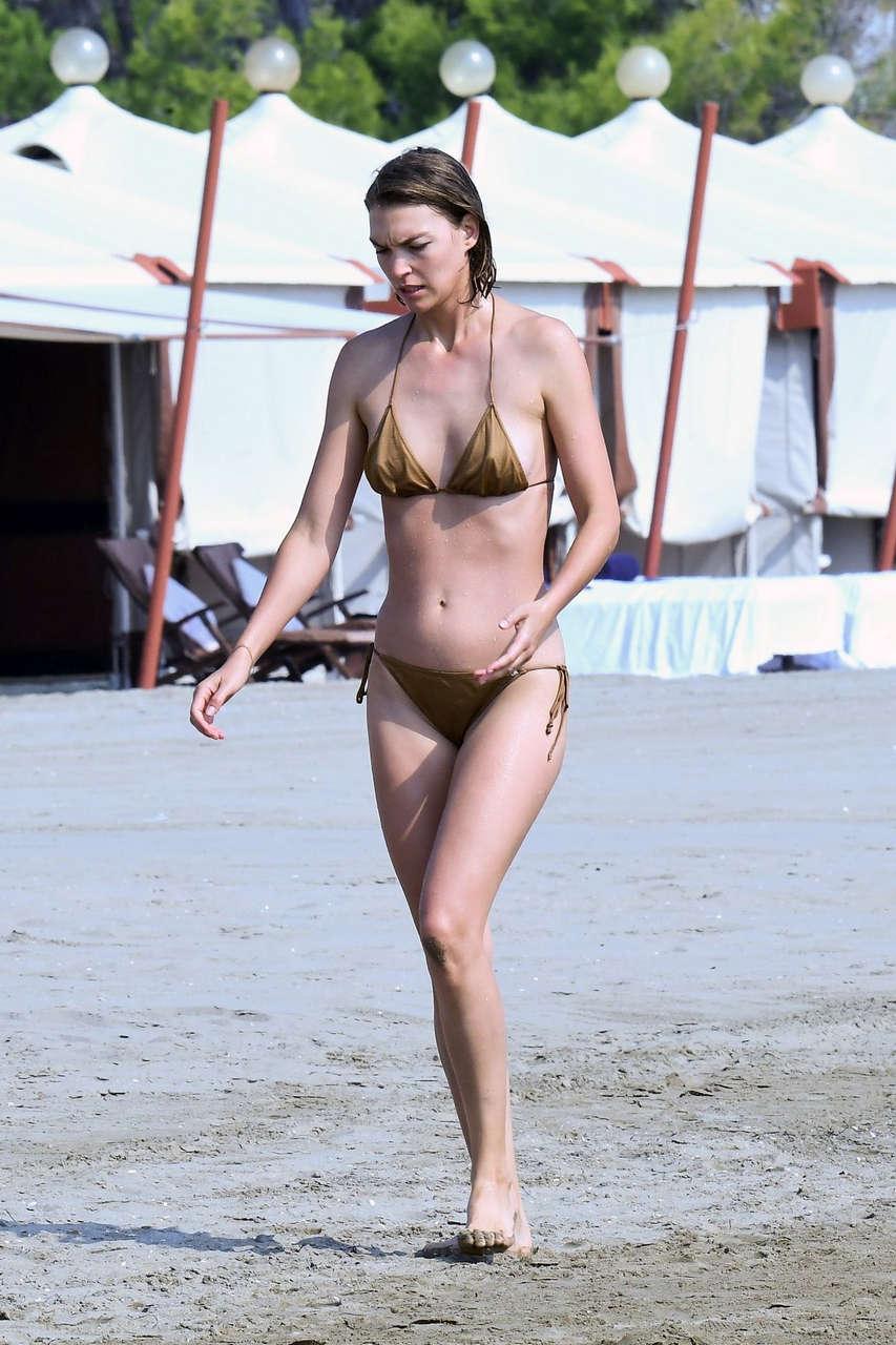 Arizona Muse Bikini Out Beach Venice