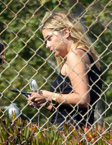 Ashley Benson G Eazy Out Kissing Malibu
