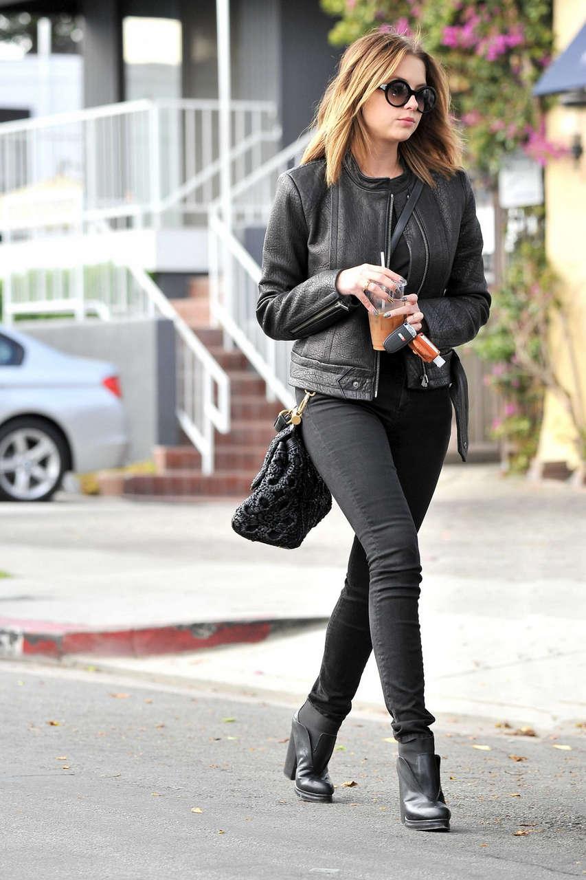 Ashley Benson Leaves La Conversacion West Hollywood