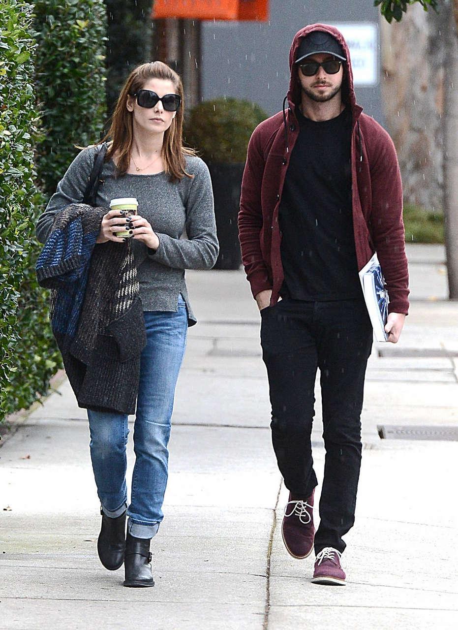 Ashley Greene Paul Khoury Leaves Urth Caffe Los Angeles