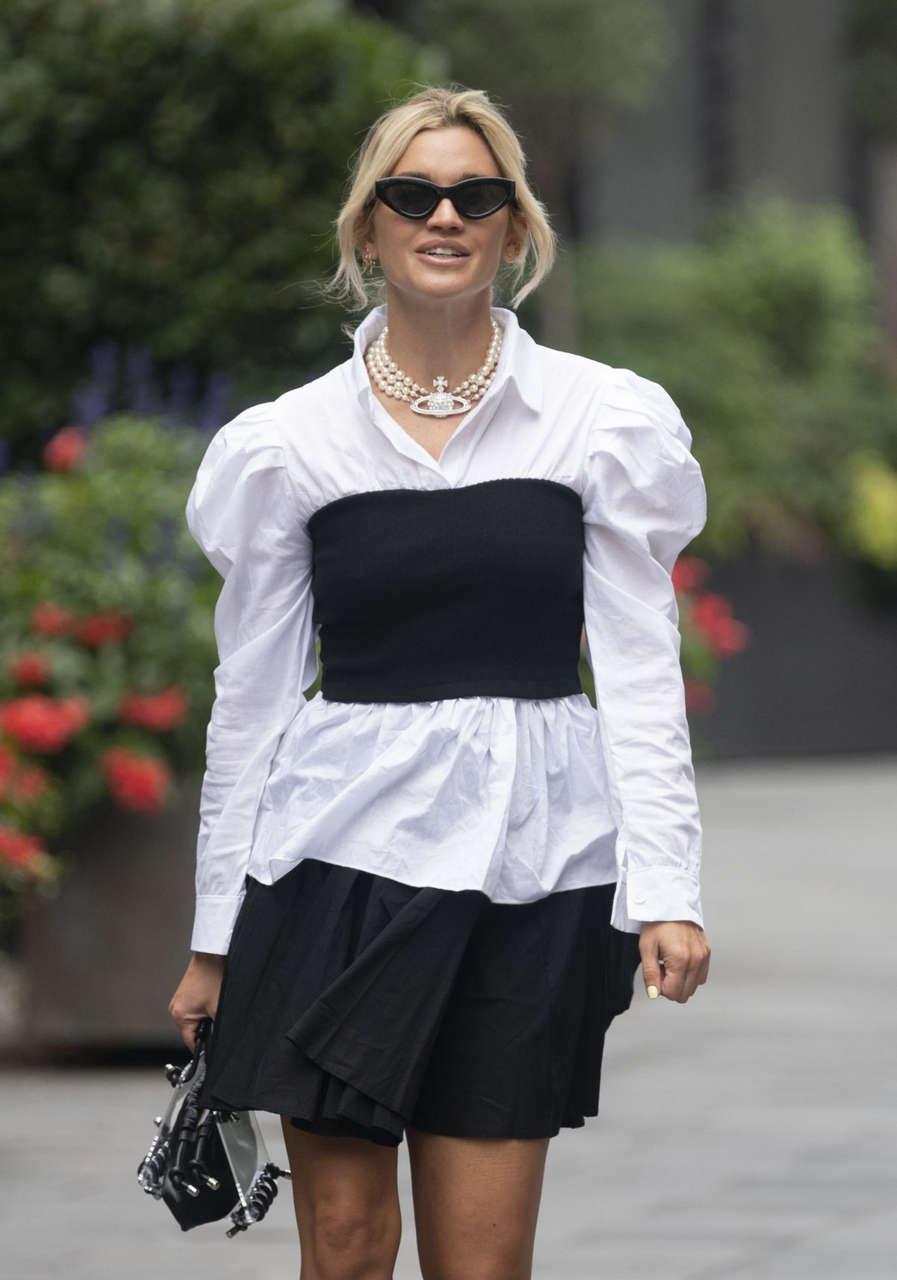 Ashley Roberts Arrives Global Radio London