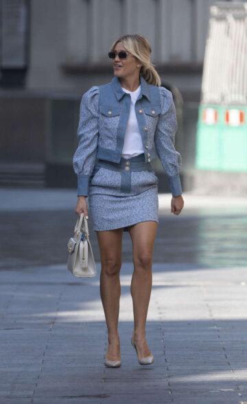 Ashley Roberts Arrives Global Radio Studios London