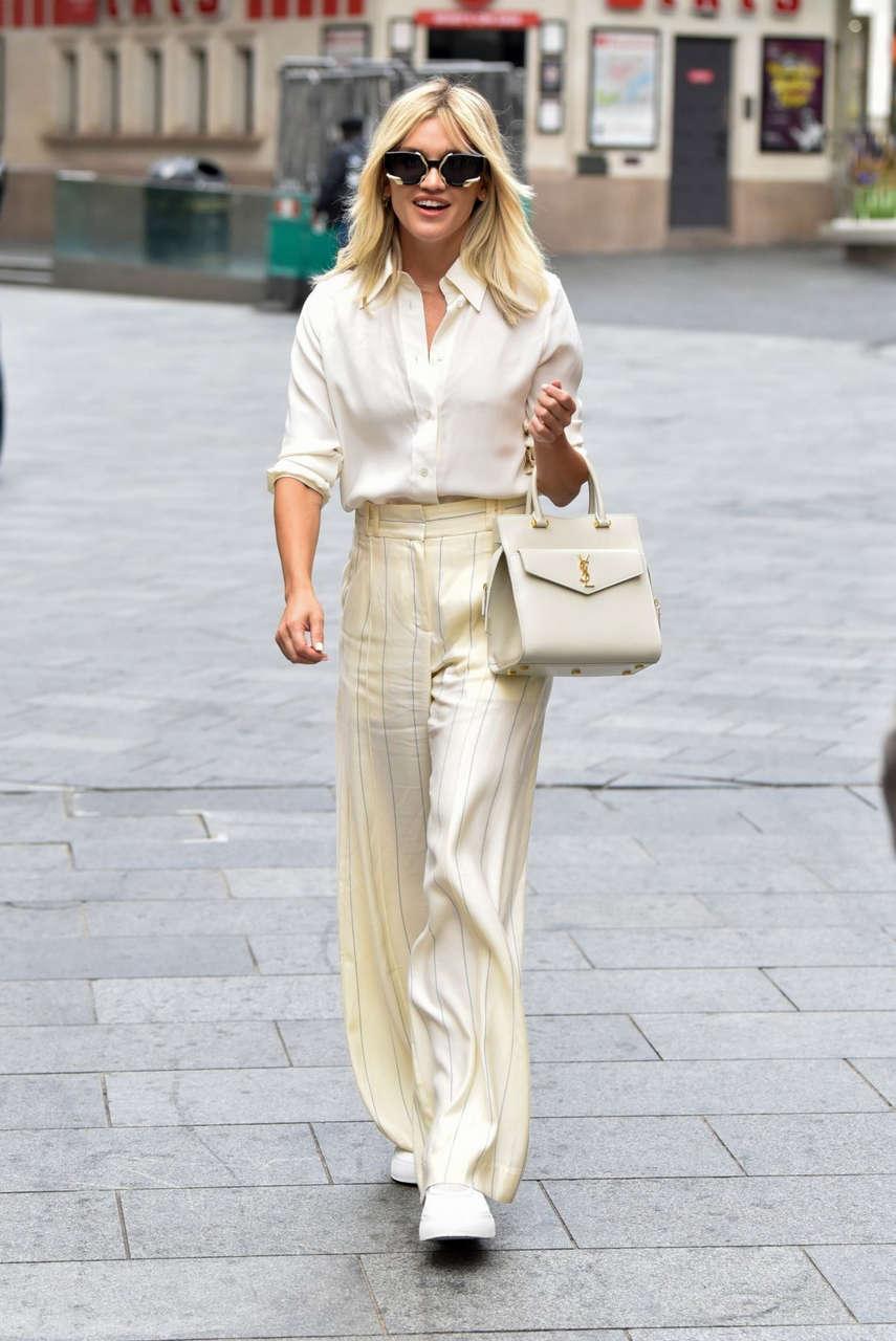Ashley Roberts Leaves Heart Breakfast Show London