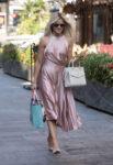 Ashley Roberts Long Shiny Dress Out London