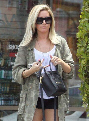 Ashley Tisdale Heading To Nail Salon Studio City