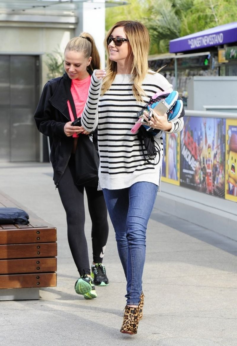 Ashley Tisdale Leaves Gym West Hollywood