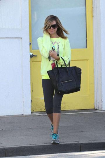 Ashley Tisdale Leaving Byron Tracy Salon Beverly Hills