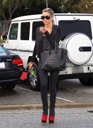 Ashley Tisdale Leaving Byron Tracy Salon Los Angeles