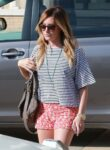 Ashley Tisdale Shorts Out Shopping Beverly Hills